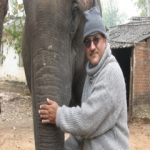 Crew member Ashish Kurl with Siddhanath